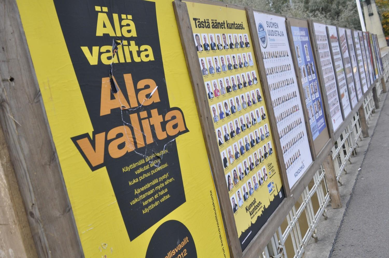 MÅNGA OSÄKRA. Av de intervjuade bara 57,6 procent vilket parti de skulle rösta på. ÅU-foto