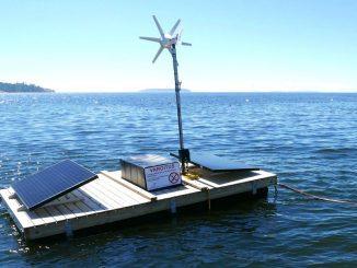 Flotte med sälskrämmarteknik på havet