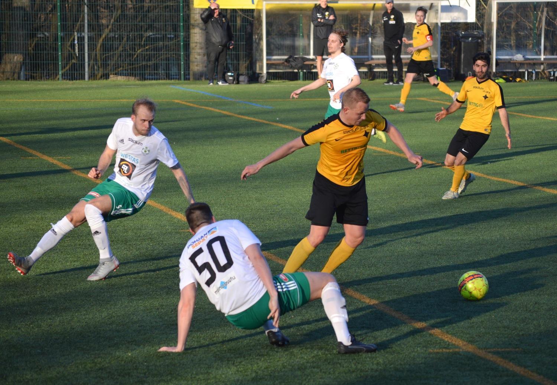 Fotbollspelare på plan