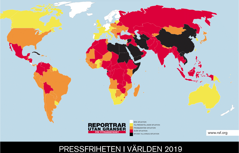 Färggrann världskarta