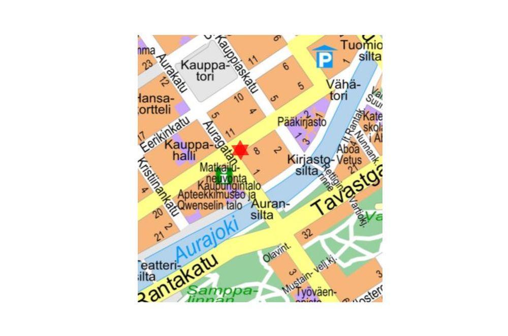 Gatukarta för centrala Åbo