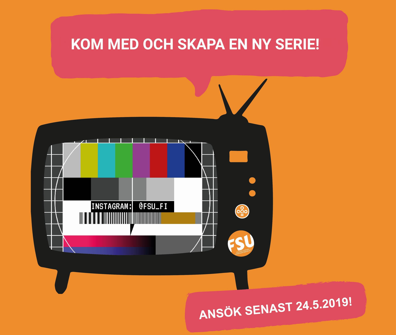 Affisch som föreställer en gammaldags tv-apparat.