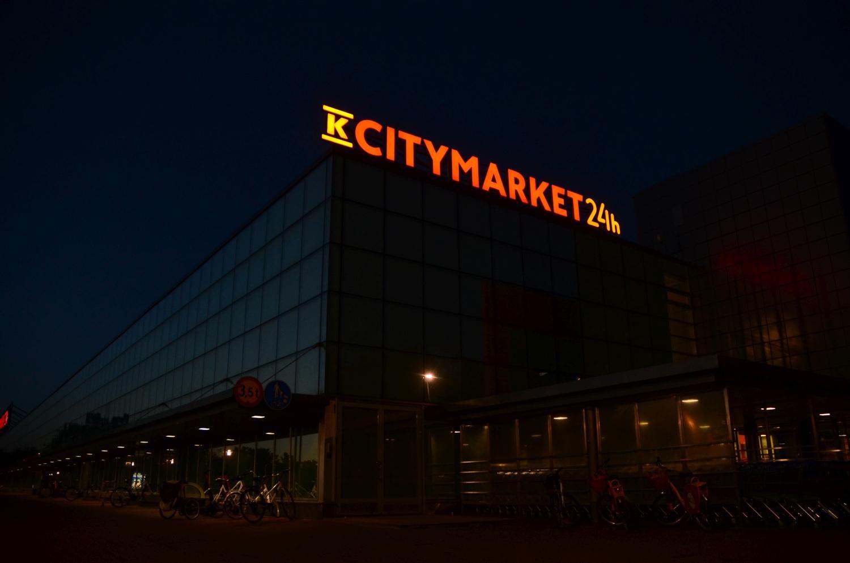 K-citymarket i Kuppis i mörkret