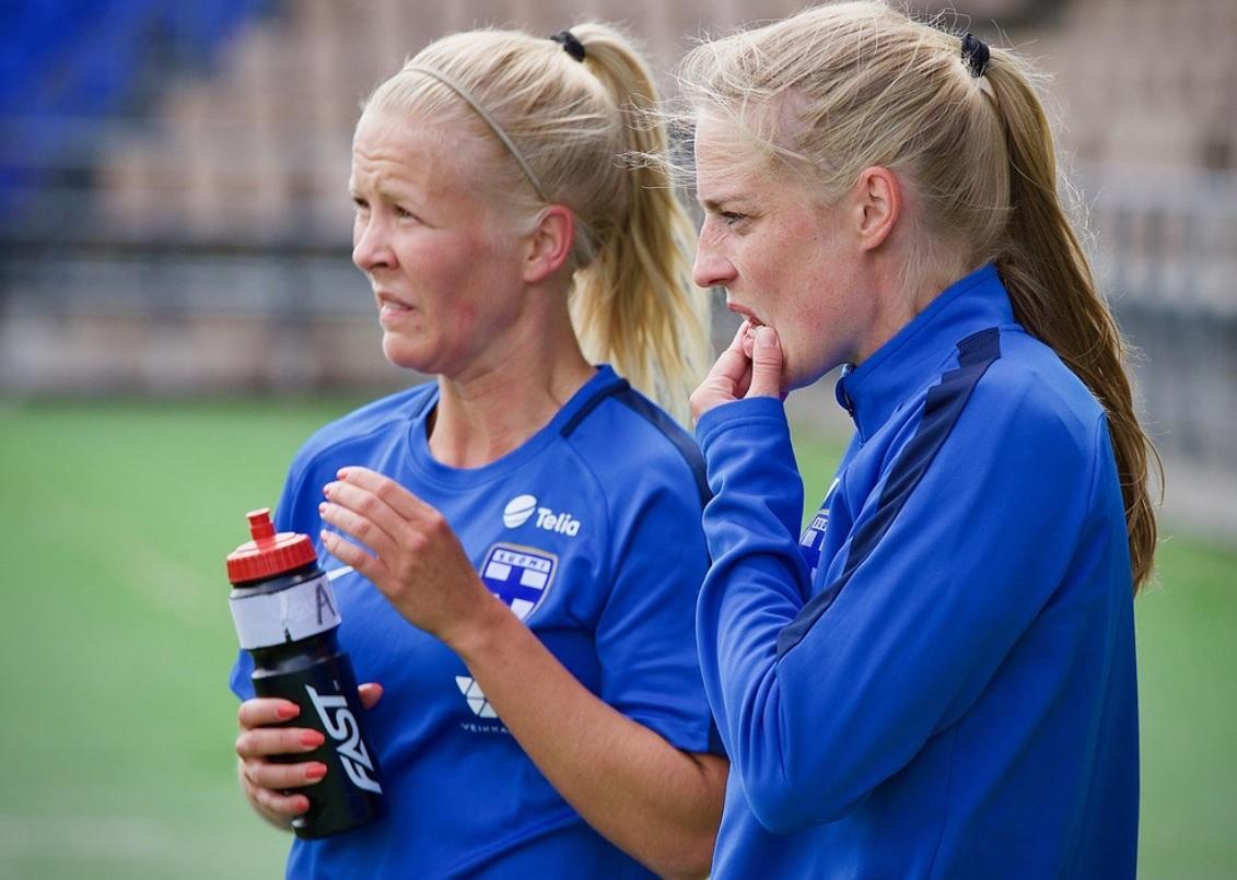 Linda Sällström och Adelina Engman fick inte hål på Island. SPT-arkivfoto