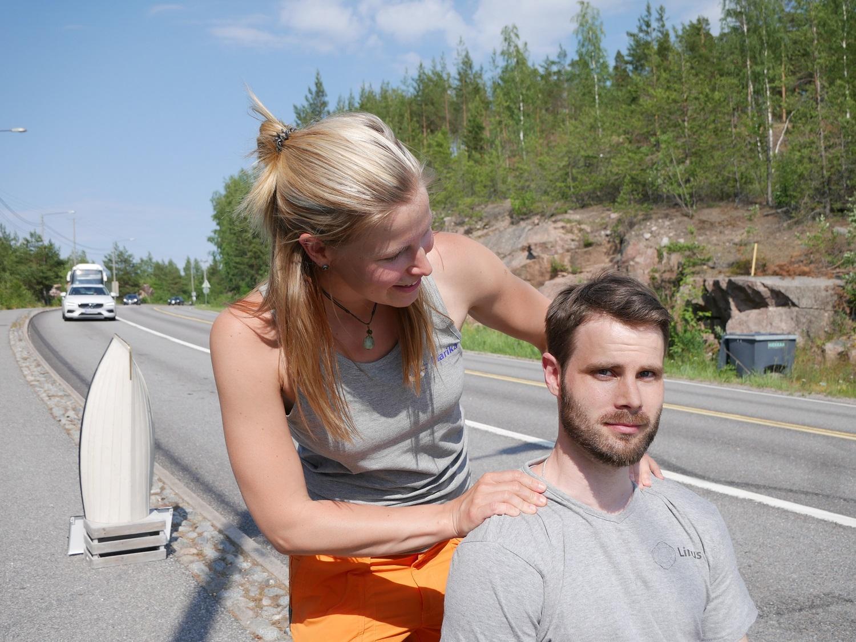 Marika Melkko och Linus Pakalén.