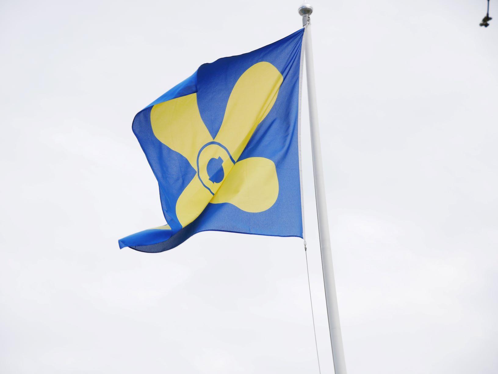 Kimitoös flagga.