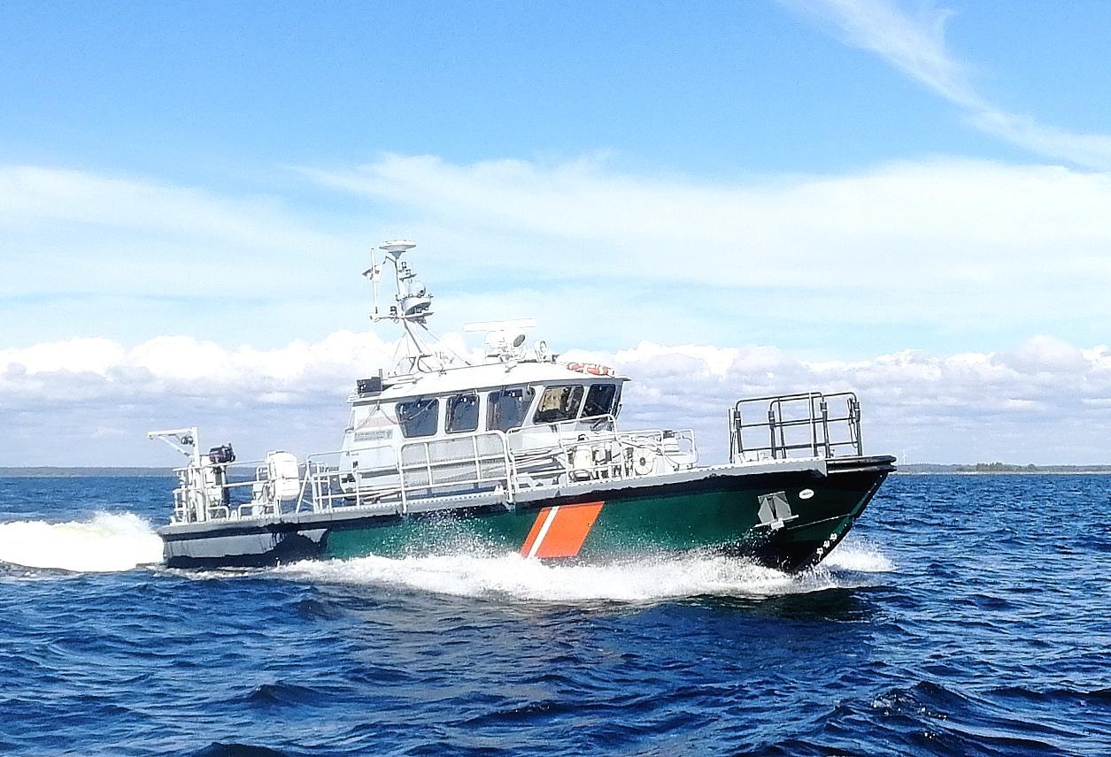 Gränsbevakningens patrulleringsbåt.