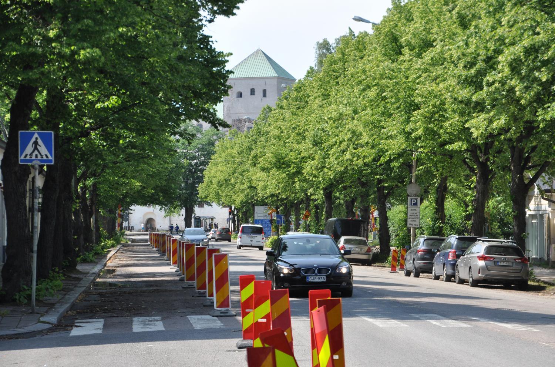Slottsgatan får ny gatubelysning i sommar längs avsnittet mot hamnen