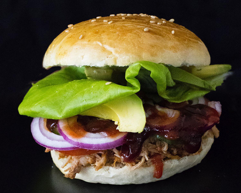 En hamburgare