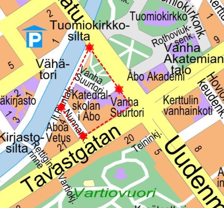 Karta över festivalområdet.
