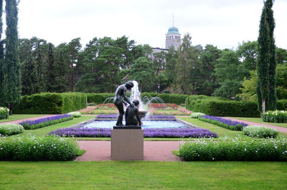 Gullranda trädgård