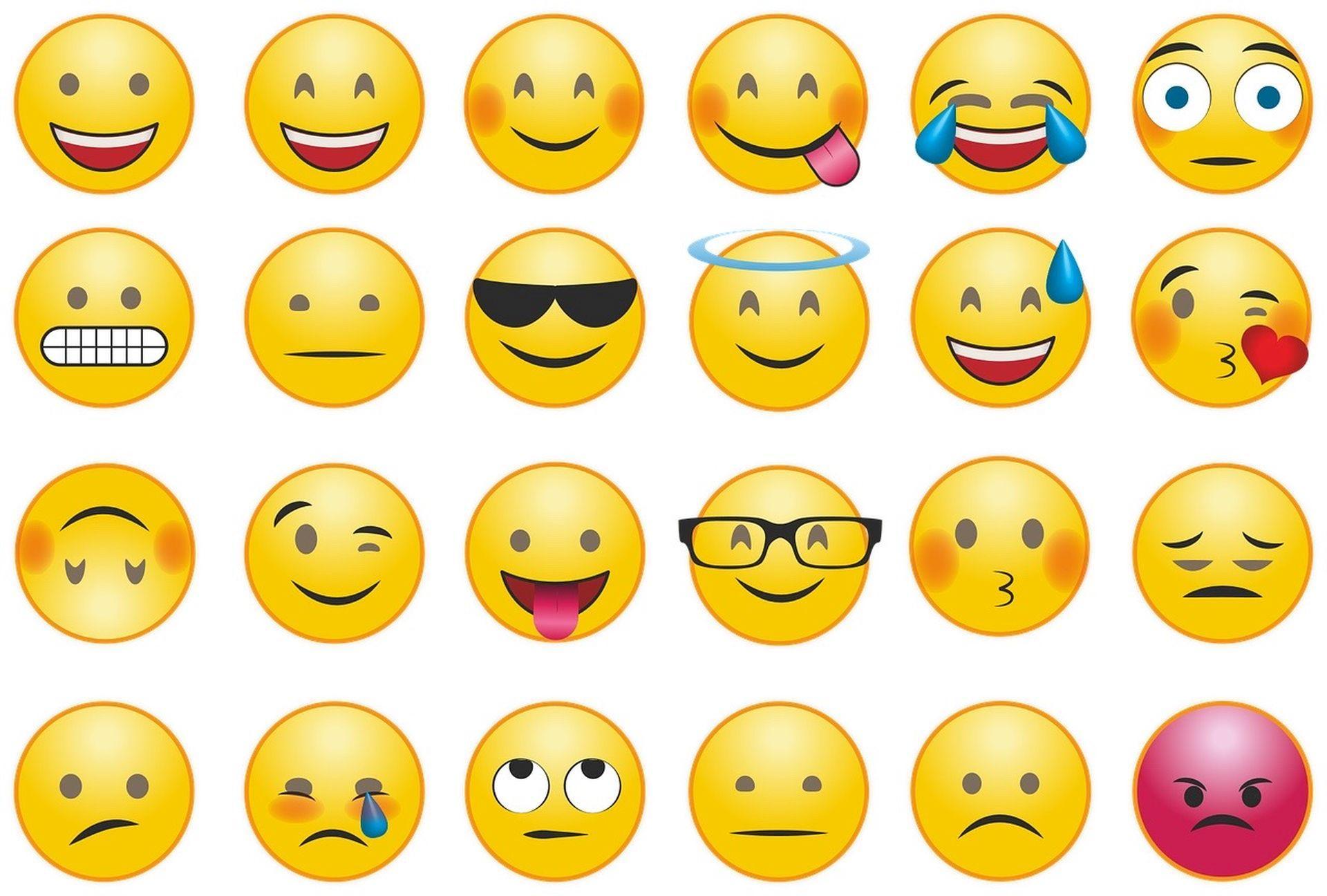 olika emojier som visar olika känslor