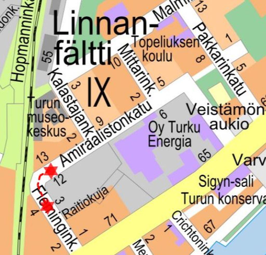 Karta över det berörda området