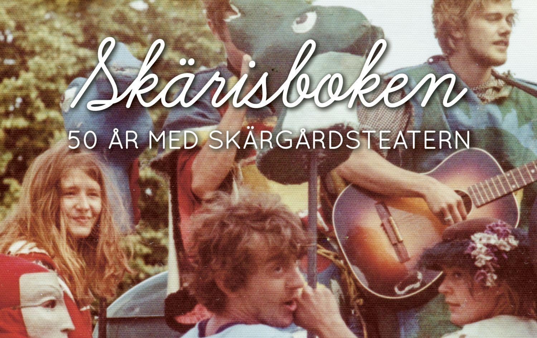 Pärm till boken om Skärgårdsteaterns 50-årshistorik.
