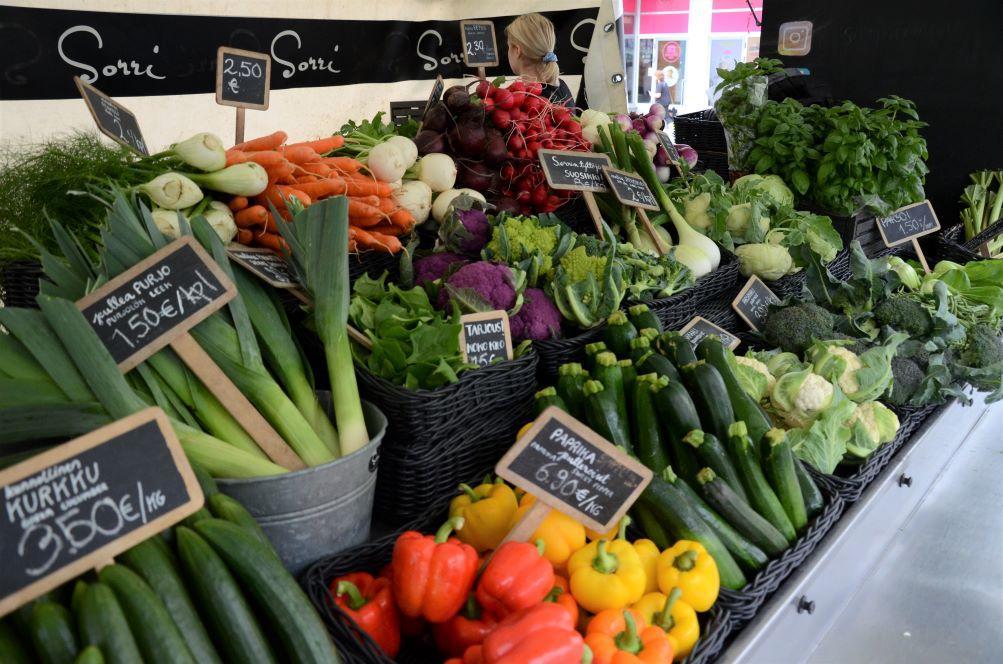 Grönsaker på Salutorget
