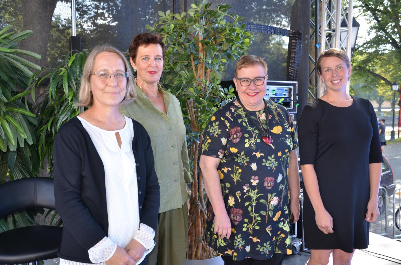 Fyra kvinnor, som har deltagit i en miljöpanel om EU-lagar och skyddet av Östersjön