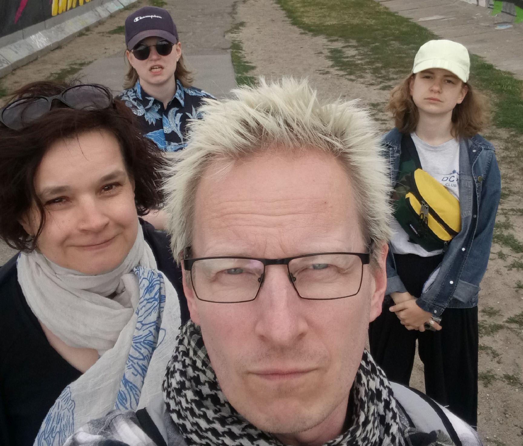 En familj på fyra personer