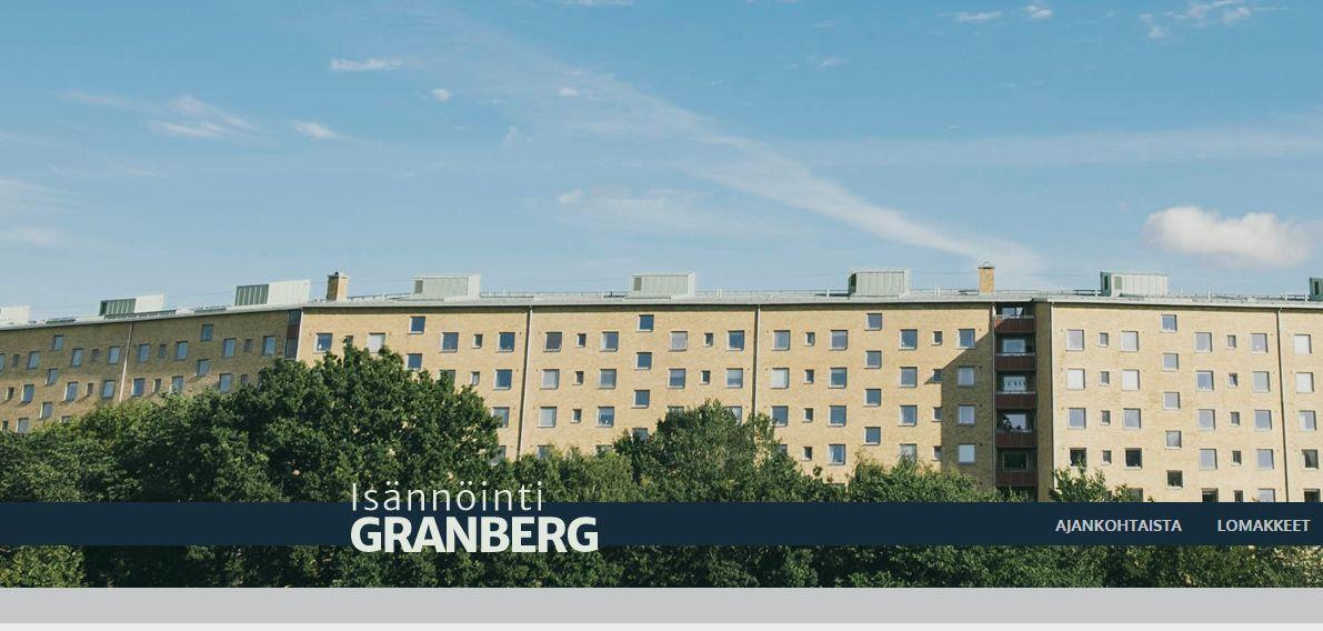 Höghus och texgten Isännöinti Granberg.