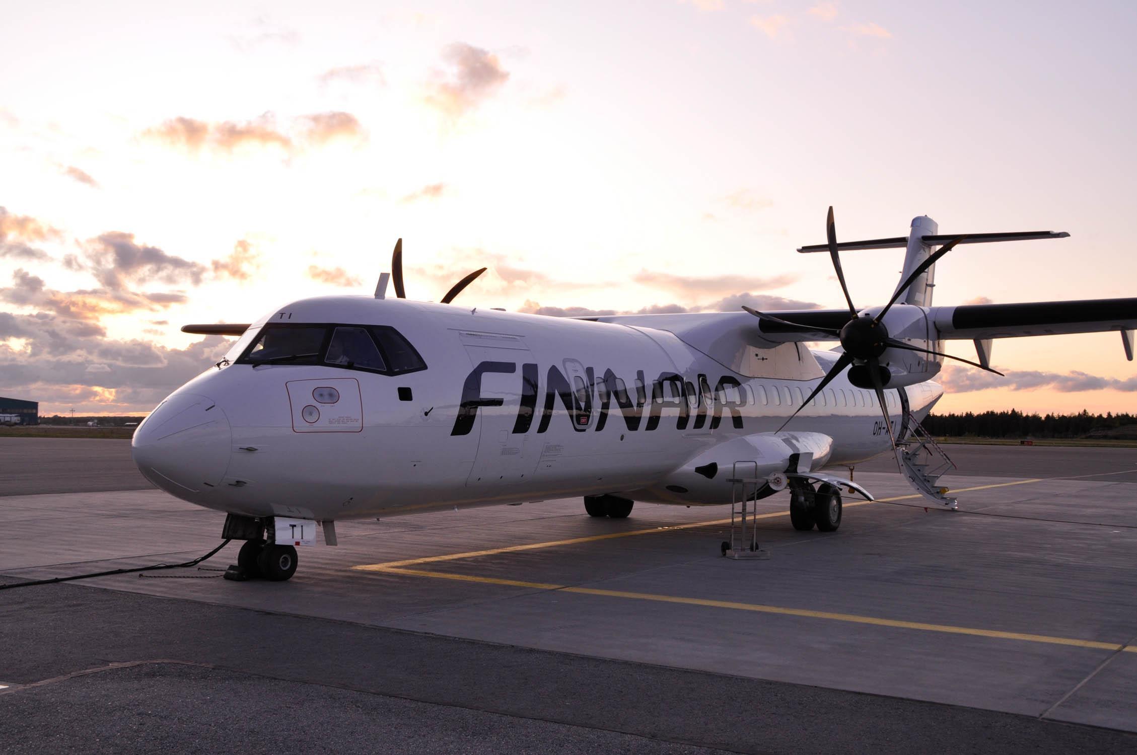 Åbo flygplats, Finnair, flygplan