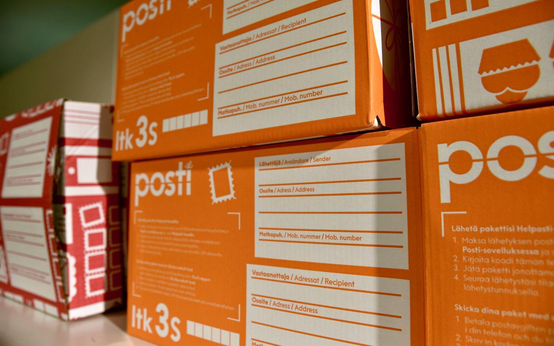 Lådor på posthylla