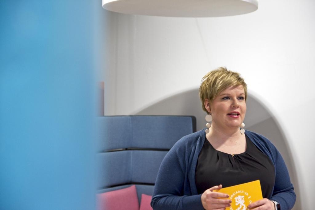 Annika Saarikko (C) valdes in i riksdagen från Egentliga Finlands valkrets. SPT
