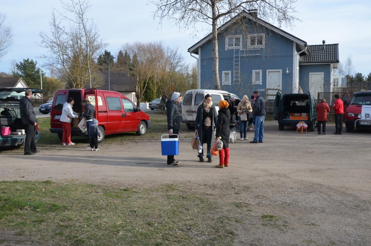 Rekoringen i Pargas har ordnats på Gamla Malmens torg sedan 2015. ÅU-foto