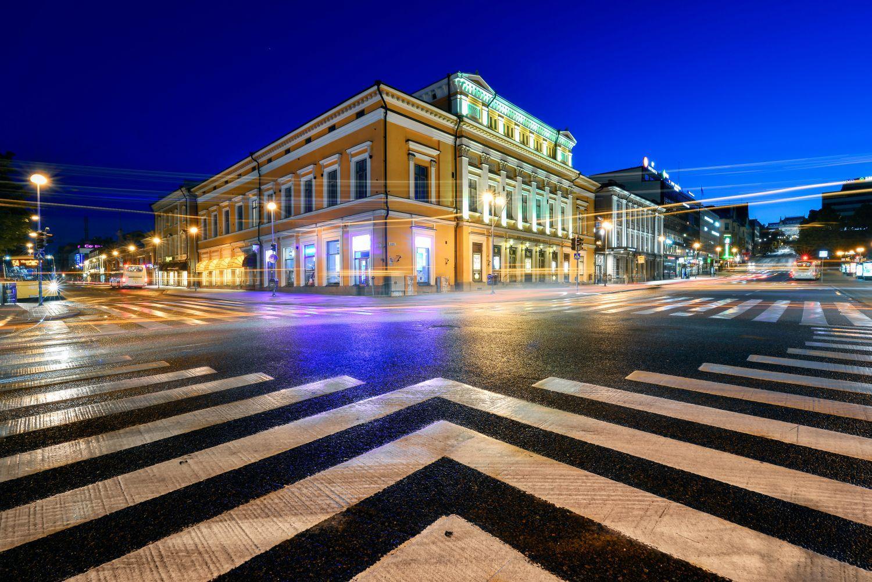 Hansakvarteret med Åbo svenska teater i förgrunden.