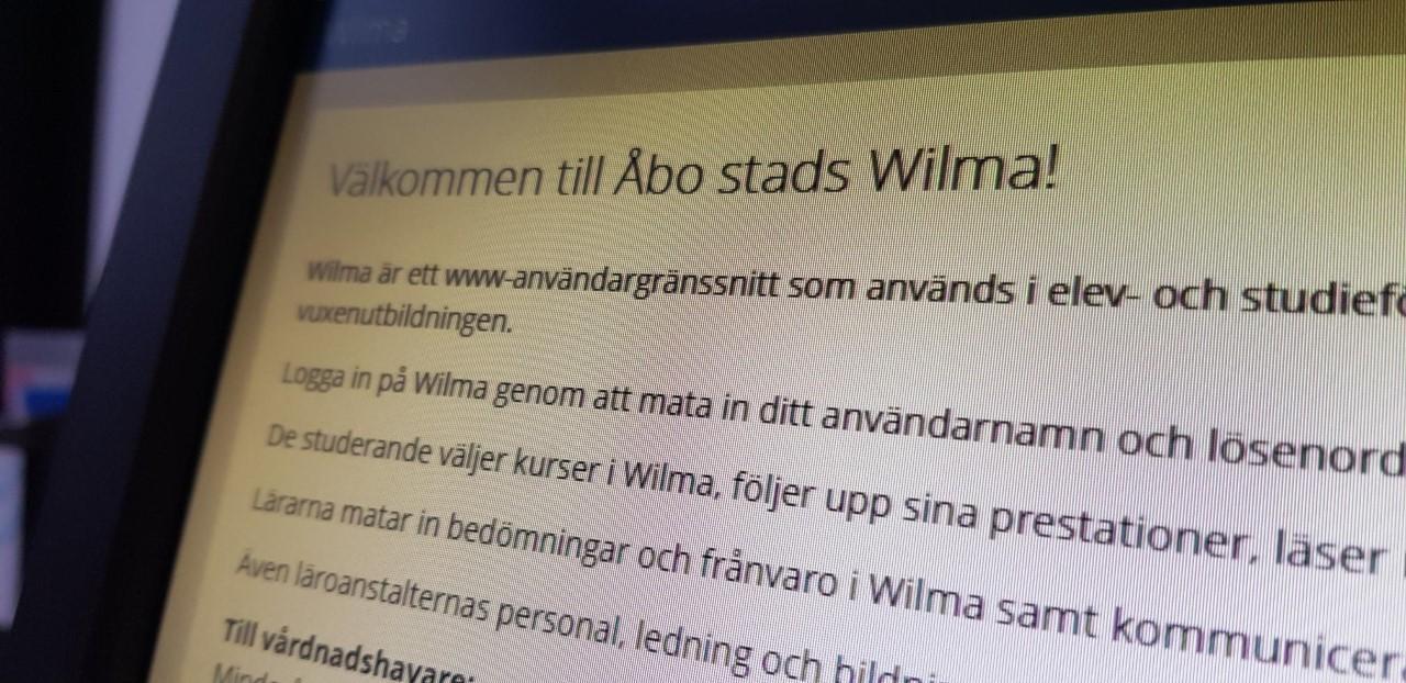 Wilma Åbo stad, en bild på systemet