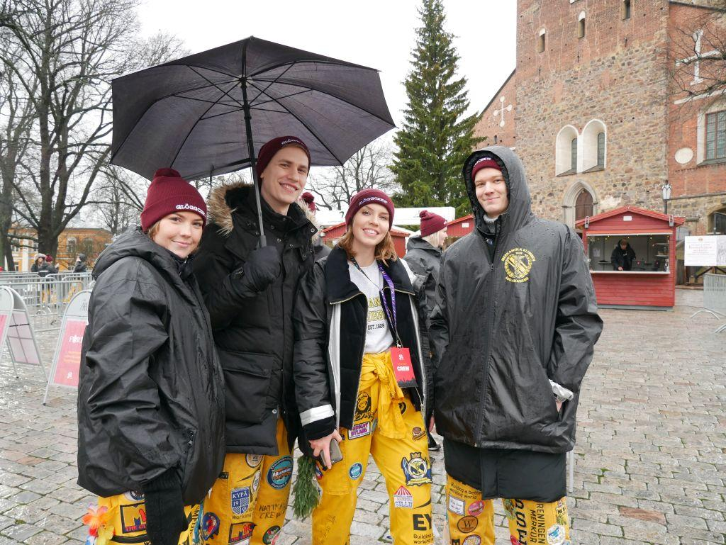 Bianca Björkstén från Kyrkslätt, Anton Pajoslahti från Vasa, Kira Vuori från Grankulla och Rasmus Lundmark från Sibbo.