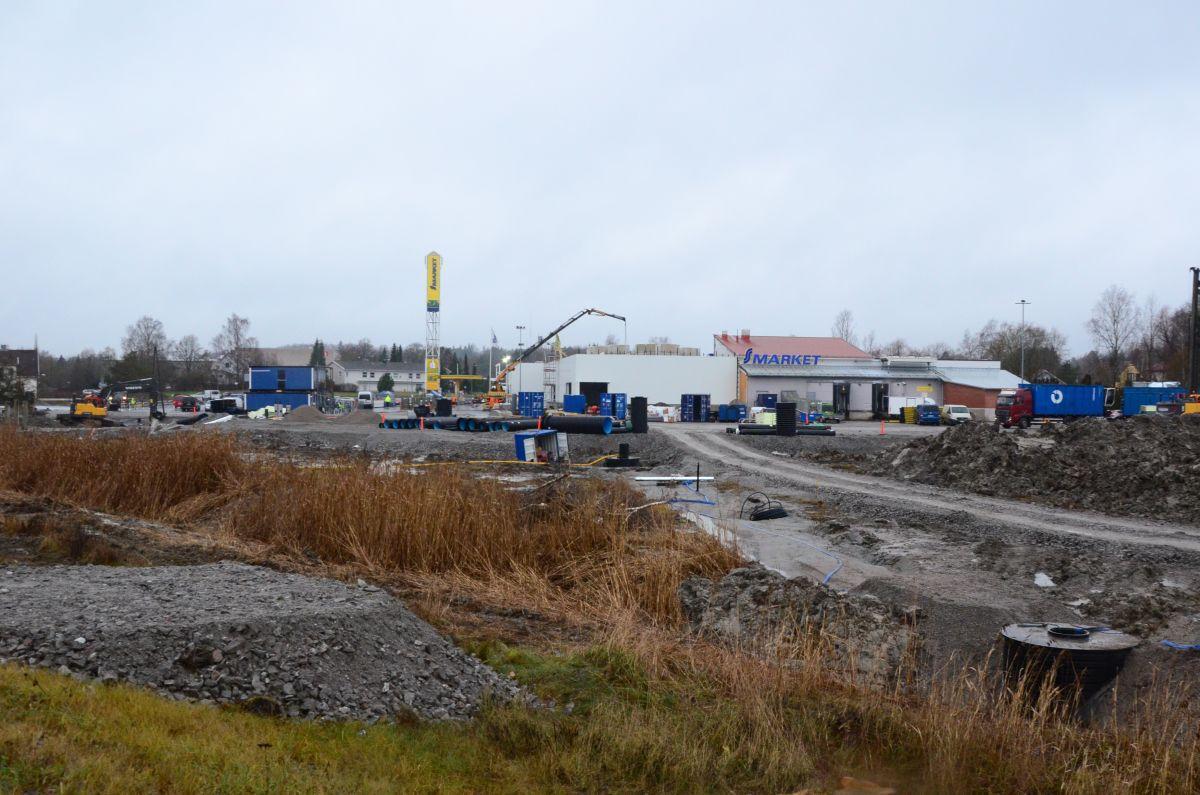 S-market & Lidl-bygge, byggarbetsplats
