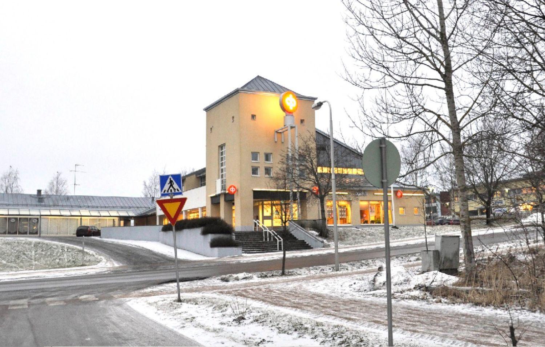 Bankkontor i vintrig miljö