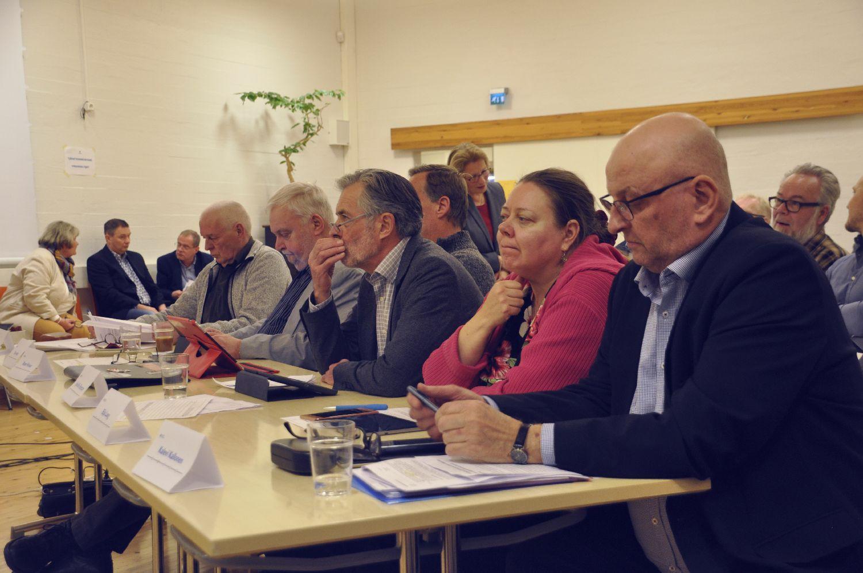 fullmäktigeledamöter på möte