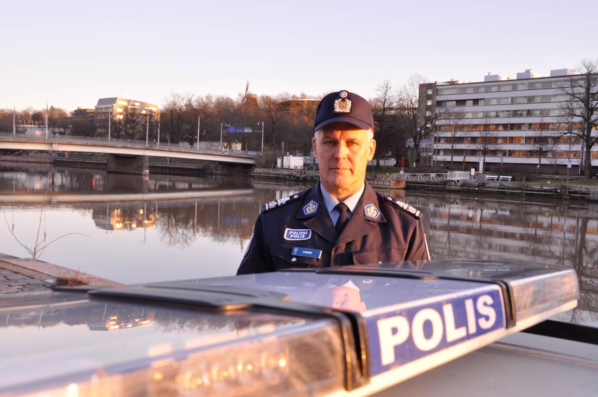 Polischef Risto Lammi.