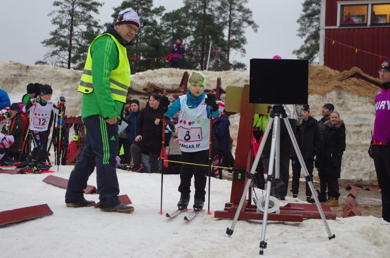 Guldmedaljören Akseli Heinonen i H8 på startsträcket