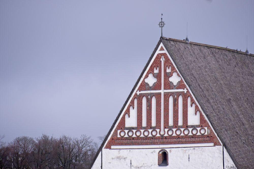 En kyrkas gavel.