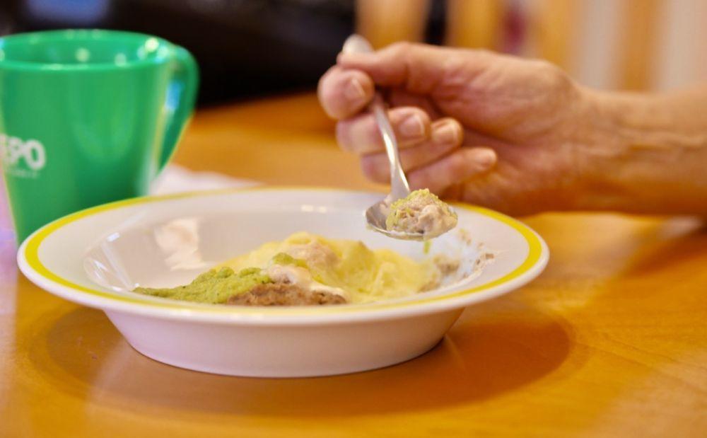 en tallrik med mat
