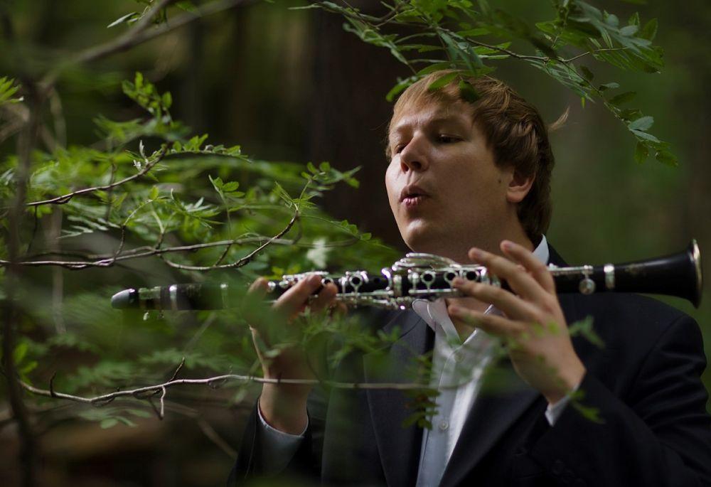 man med klarinett