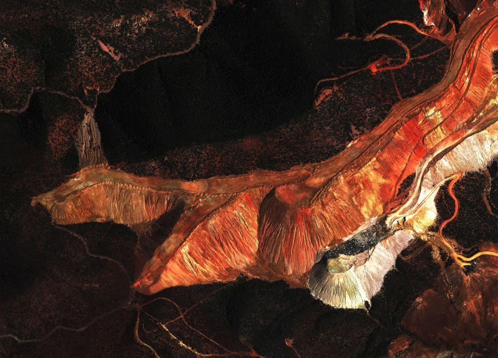 Satellitbild av gruva