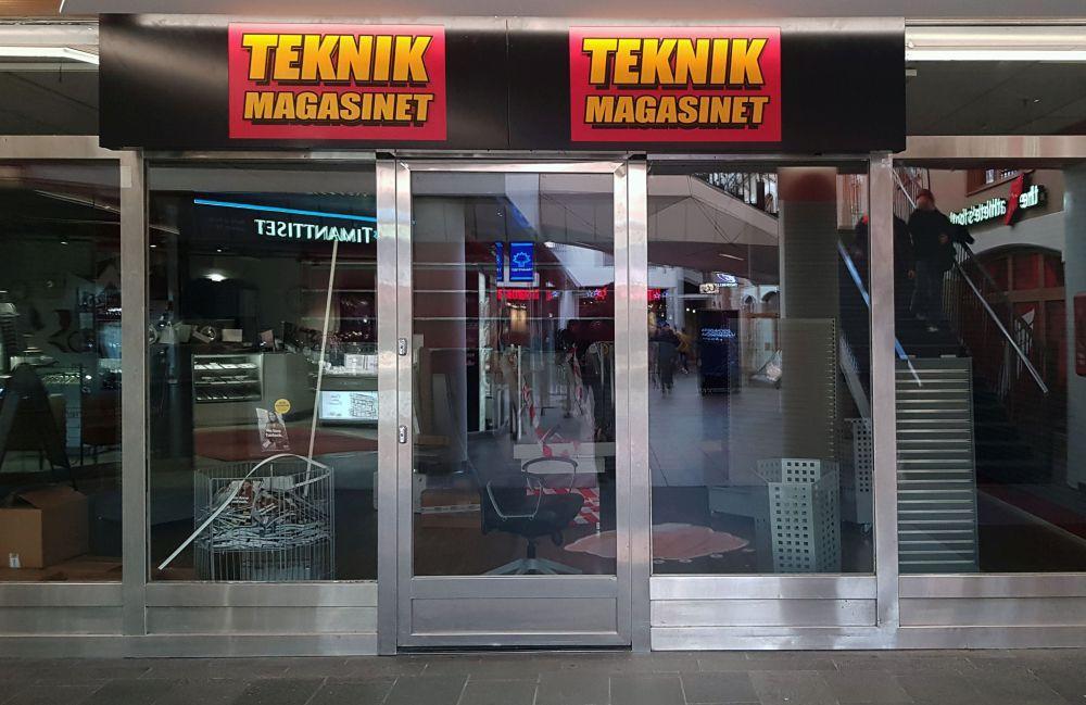 Stängd mörk affär