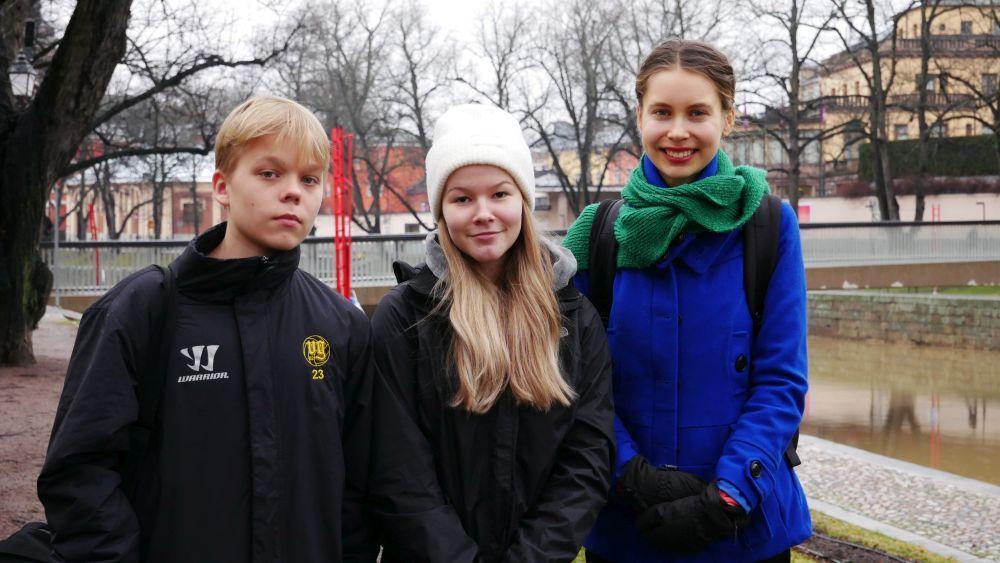 tre ungdomar
