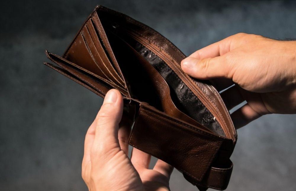 Tom plånbok