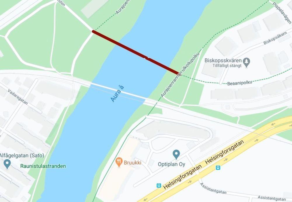 Karta över Åbo stad
